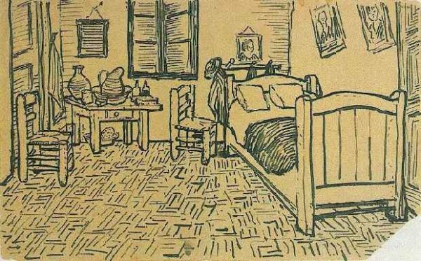 Vincent_van_Gogh_-_Vincents_Bedroom_in_Arles_-_Letter_Sketch_October_1888-600x373
