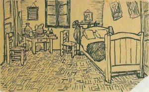Vincent_van_Gogh_-_Vincents_Bedroom_in_Arles_-_Letter_Sketch_October_1888-600x373