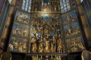 Poland, Krakow, St. Mary's Basilica, Interior, Altar