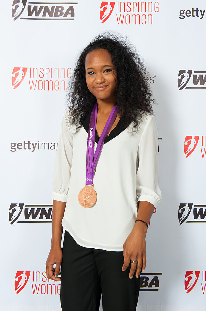 NEW YORK - SEPTEMBER 10: Paige McPherson bronz medal winner in Taekwondo at the 2012 Summer Olympic games poses during the WNBA Inspiring Women Luncheon at Pier Sixty at Chelsea Piers on September 10, 2012 in New York City.  (Photo by Rob Tringali/Getty Images)