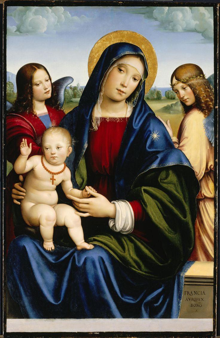 Virgem Maria, Francesco Francia, cerca de 1450, North Carolina Museum of Art, Raleigh, EUA.