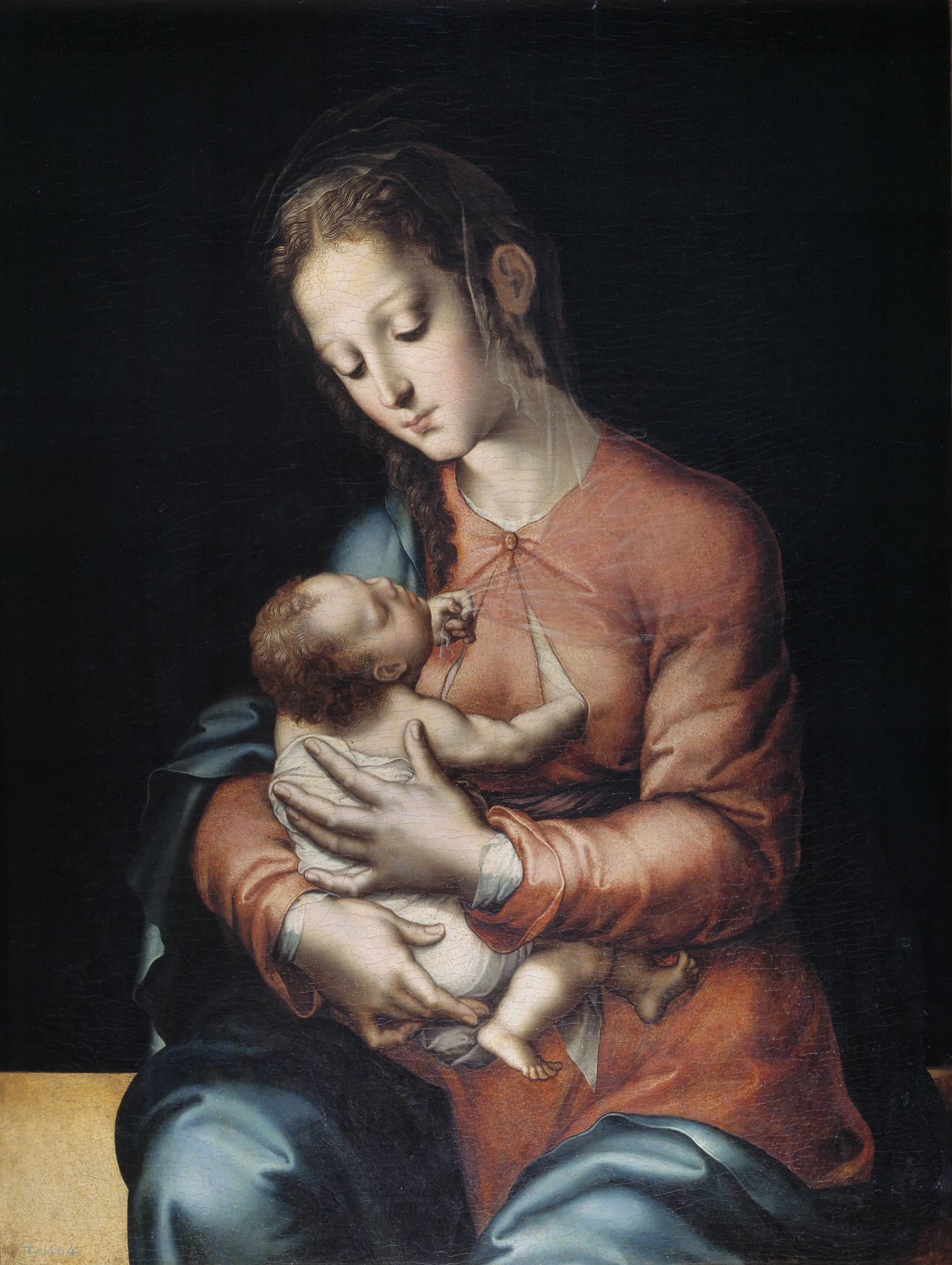 La Virgen de la leche, Luis de Morales, cerca de 1565, Museu do Prado de Madrid, Espanha.