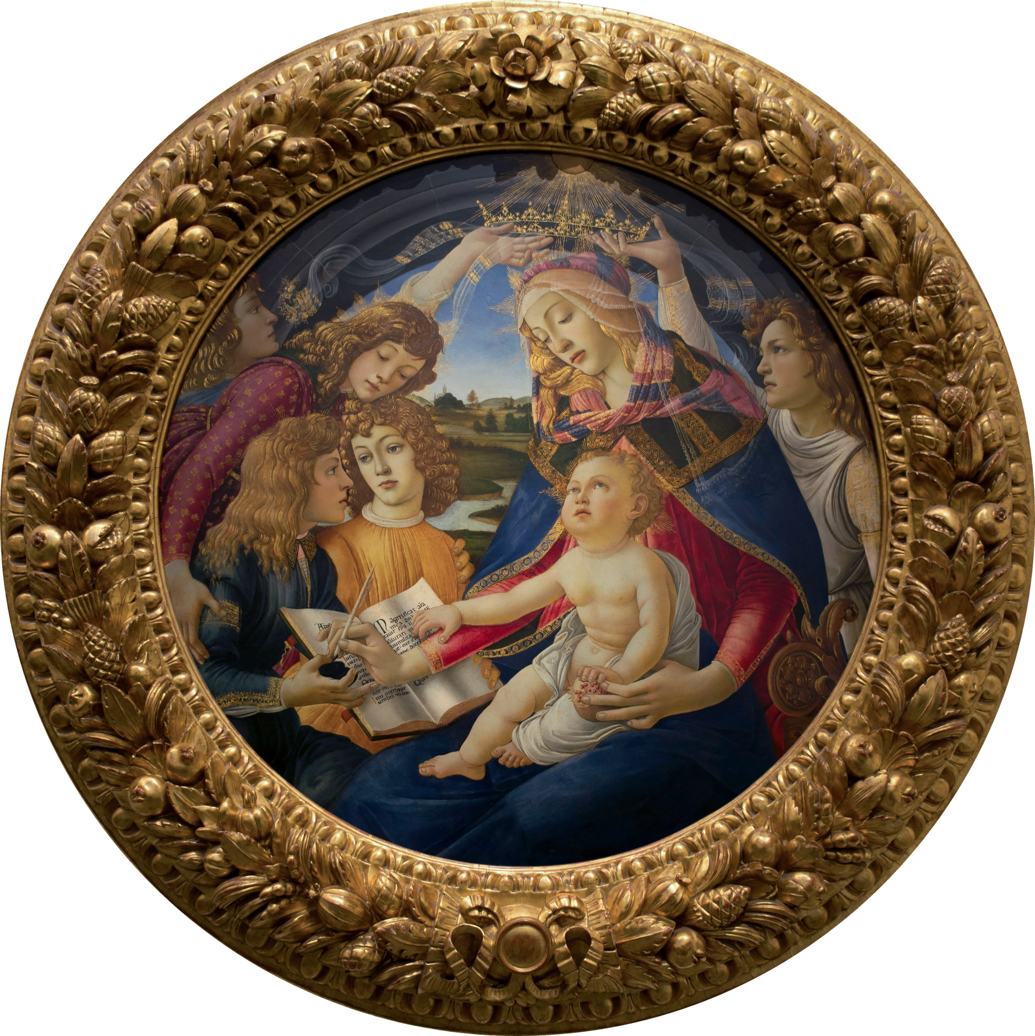 Madonna of the Magnificat, Sandro Botticelli, 1483, Uffizi Gallery, Florence, Italy.