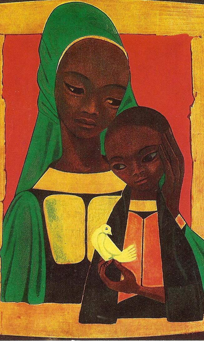 Virgem Maria Africana, artista desconhecido.