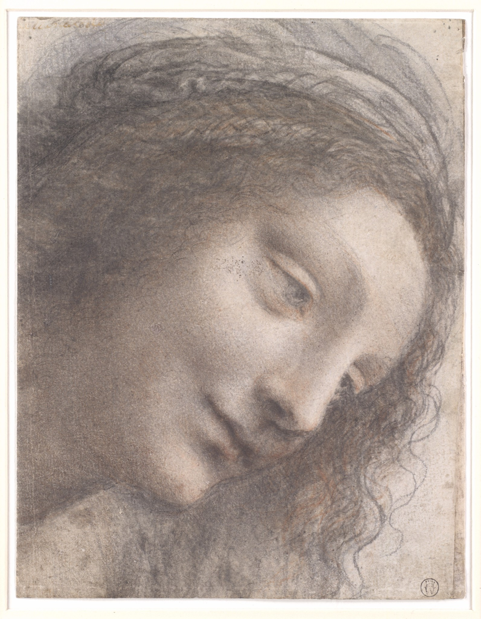 A cabeça da Virgem, Leonardo da Vinci, 1508-1512, The Metropolitan Museum of Arts, Nova Iorque, EUA.