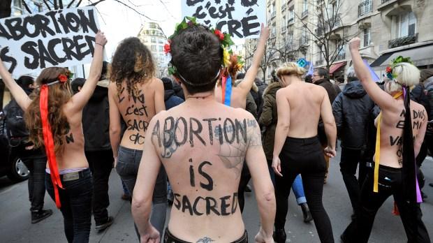 Militantes pró-aborto