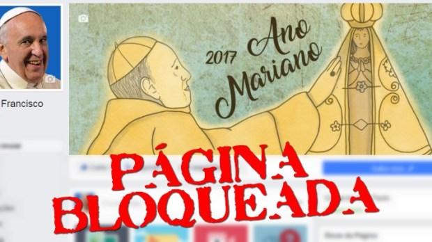 Fanpage Papa Francisco Brasil bloqueada