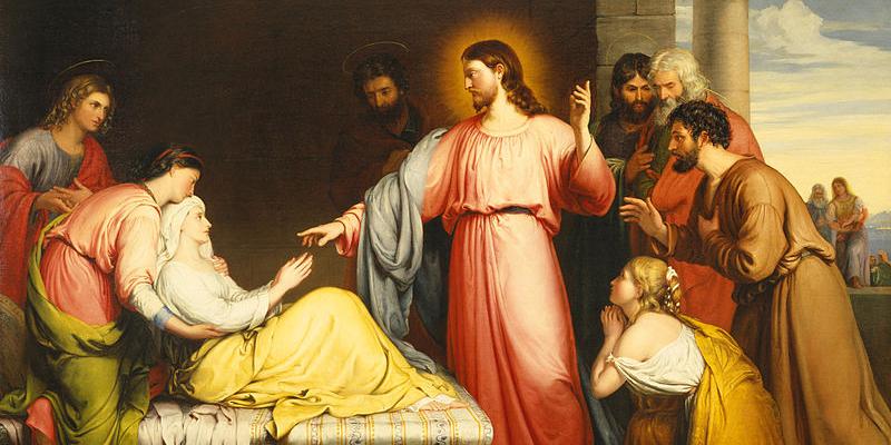 Jesus cura a sogra de Pedro