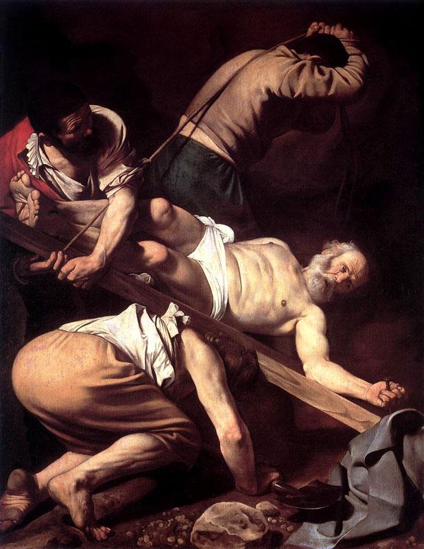 Caravaggio Crucificação de Pedro