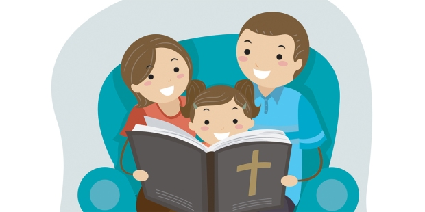 FAMILY READING THE BIBLE
