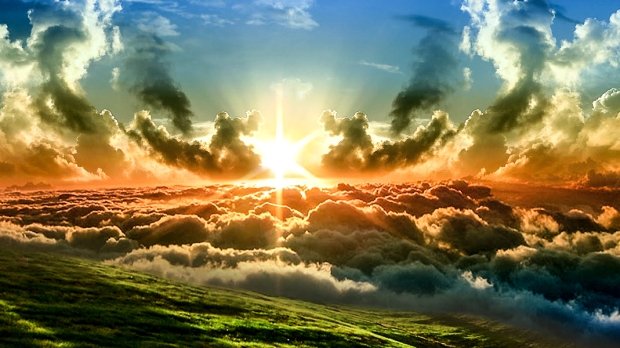 SUN IN SKY WITH CLOUDS