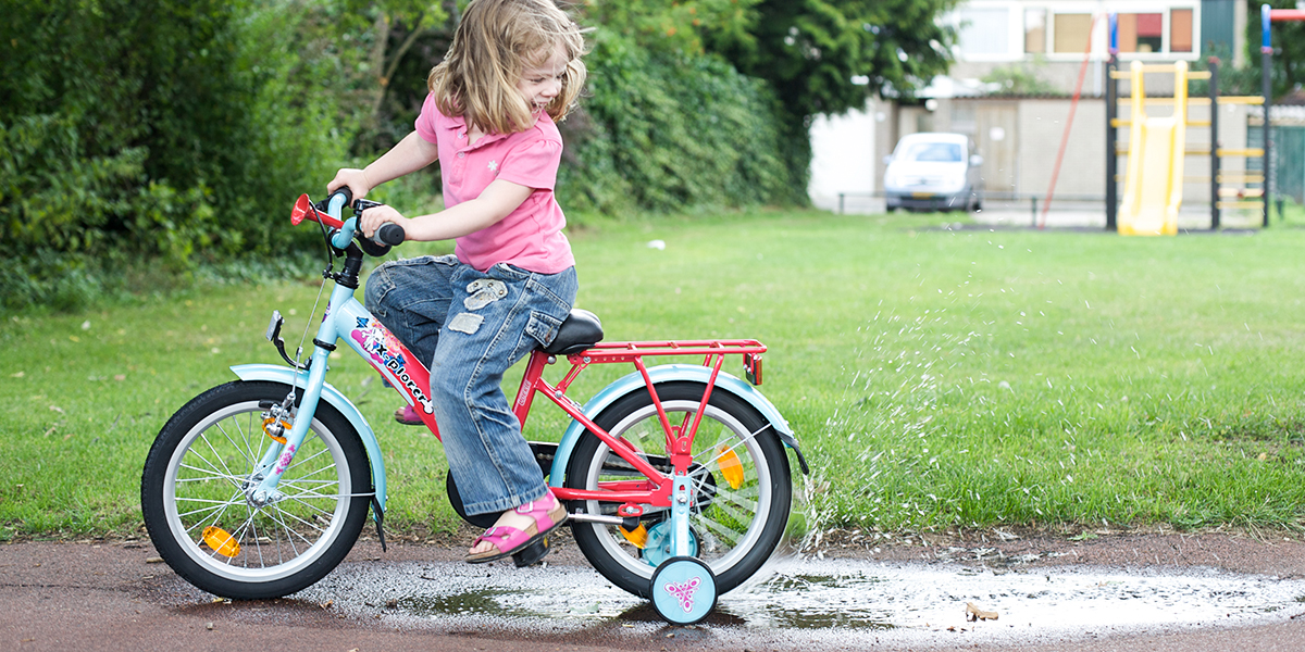 Little Girl Biking