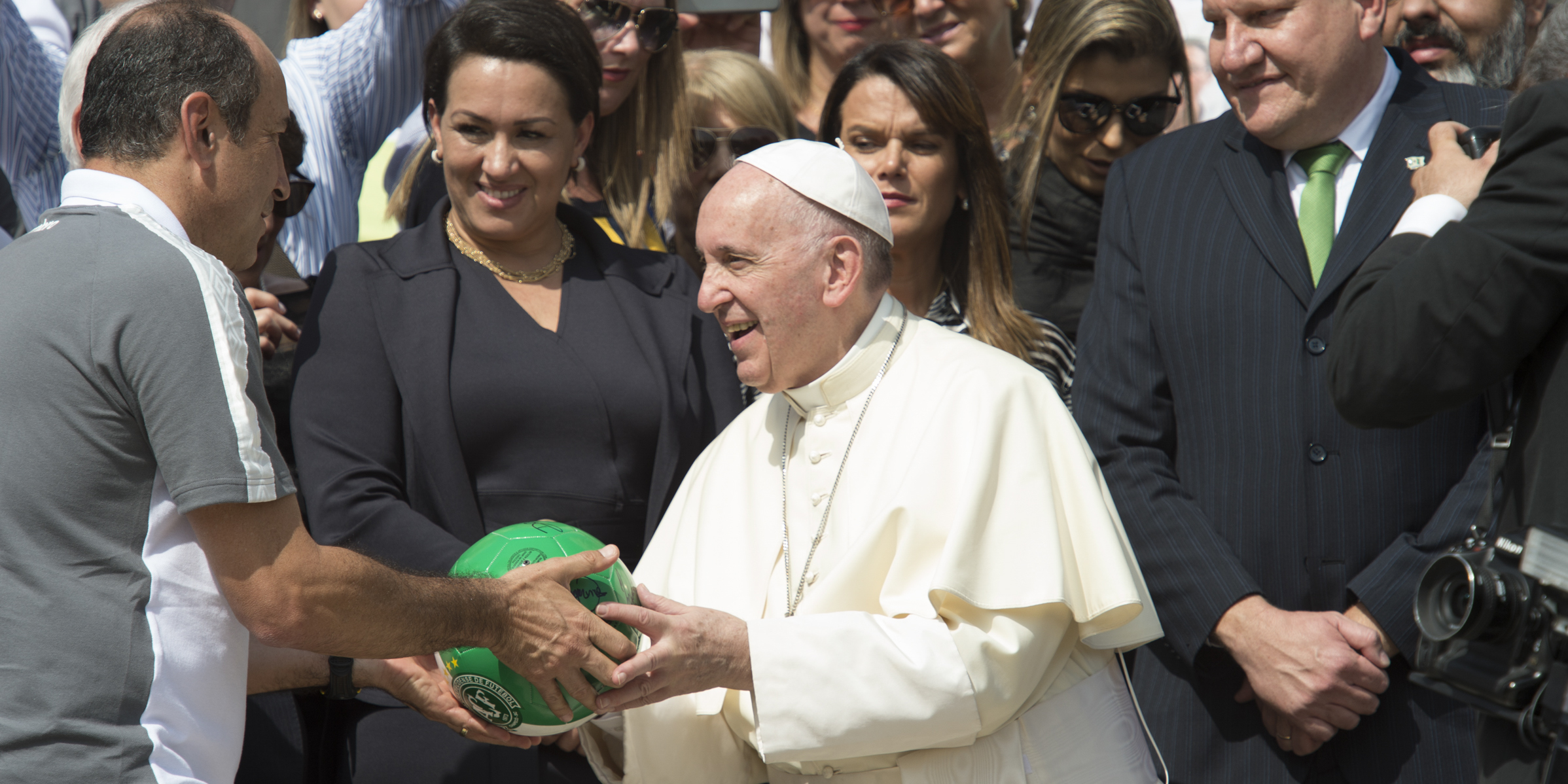 POPE FRANCIS,SOCCER BALL