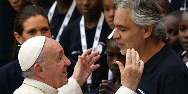 ANDREA BOCELLI POPE FRANCIS