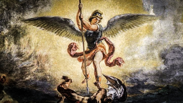 São Miguel combatendo Satanás