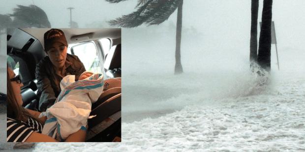 Bebê nasce em meio ao Furacão Irma
