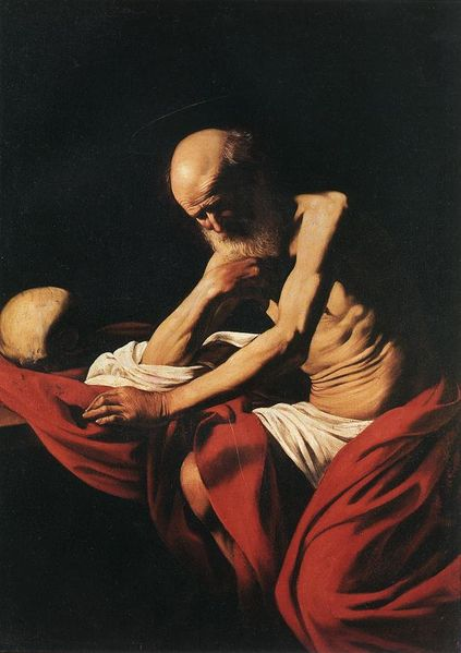 São Jerônimo penitente - Caravaggio