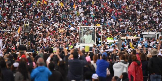 POPE FRANCIS,SIMON BOLIVAR PARK
