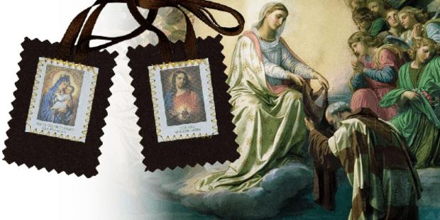 escapulário Nossa Senhora do Carmo