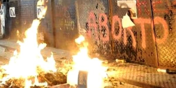 feministas vandalismo argentina