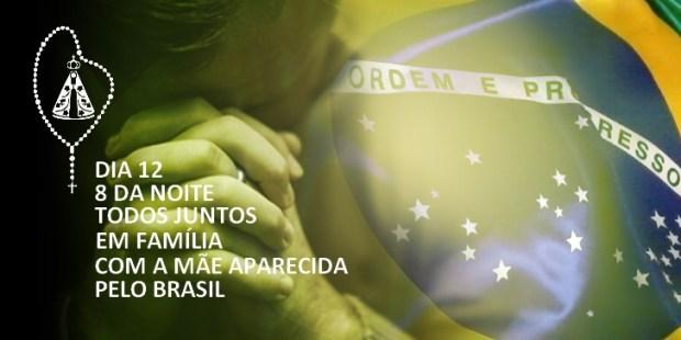oração terço nacional pelo Brasil 12 outubro Aparecida