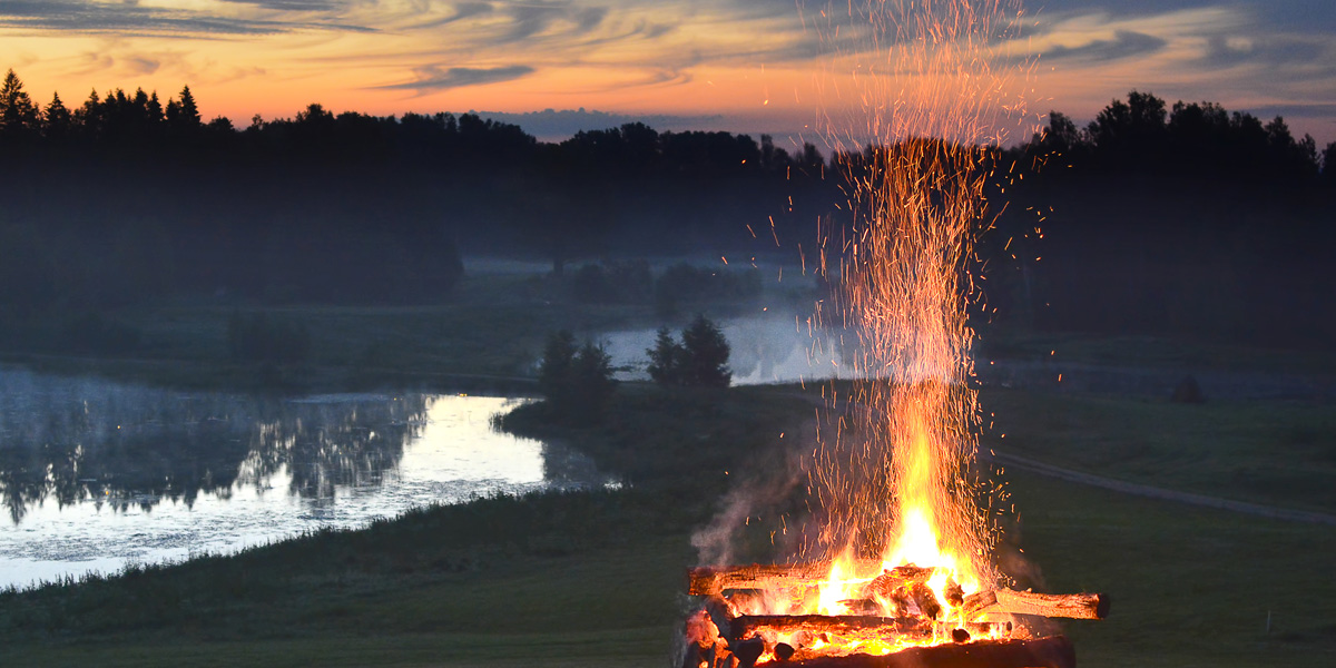 FIRE,SUNSET,LAKE