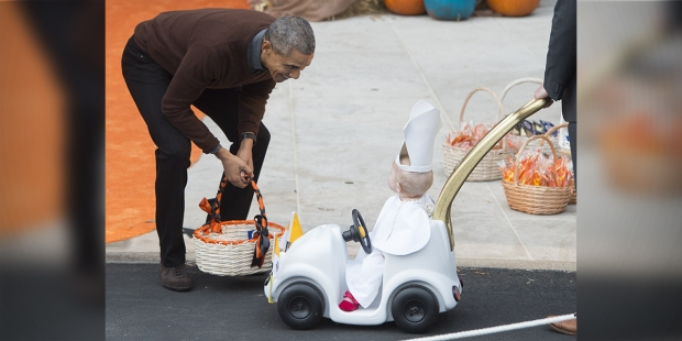Obama and Baby Pope