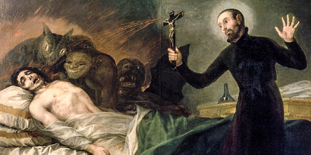 PRIEST PERFORMING EXORCISM