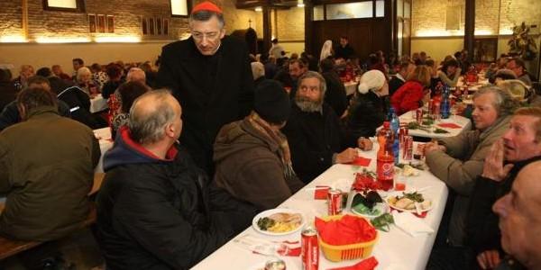Almoço de Natal com os pobres - Patriarcado de Veneza