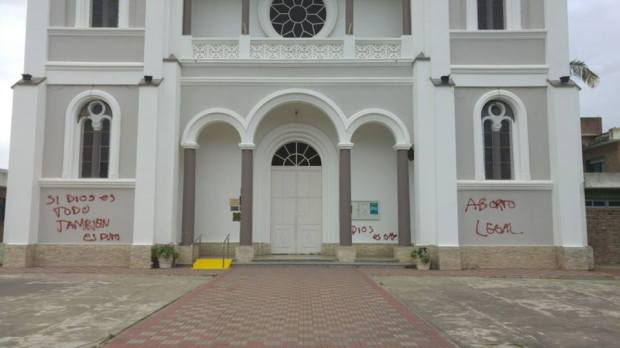 SPRAYED, CHURCH