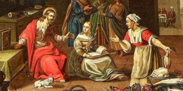 Marta, Maria e Jesus
