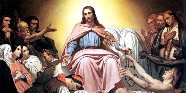 JESUS WITH A GROUP OF PEOPLE
