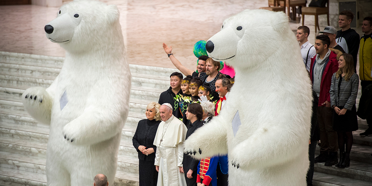 POLAR BEAR,POPE FRANCIS