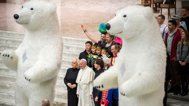 POLAR BEAR,POPE FRANCIS