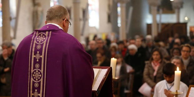 Church Priest Praying