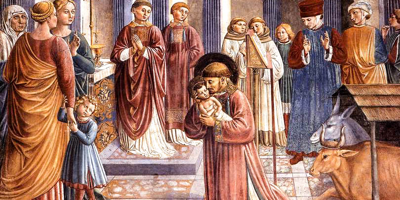 ST FRANCIS WITH BABY JESUS