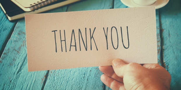 """KARTKA Z NAPISEM """"THANK YOU"""""""