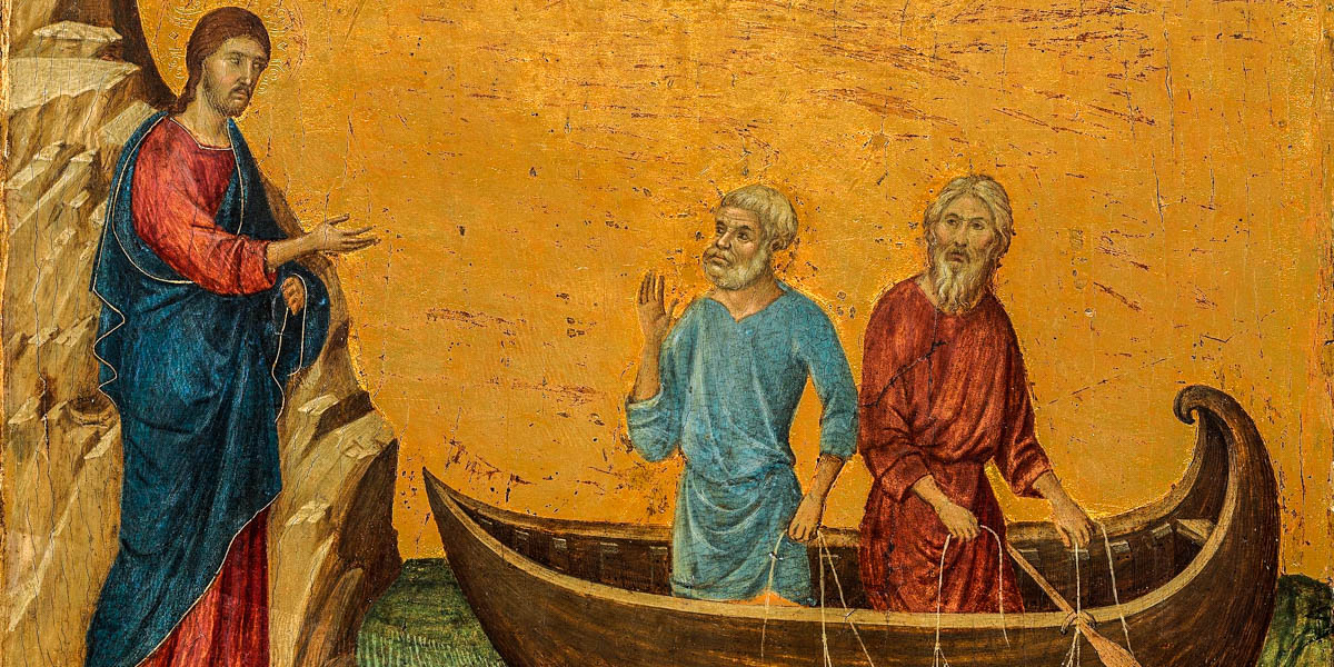 JESUS AND PETER,FISHING BOAT