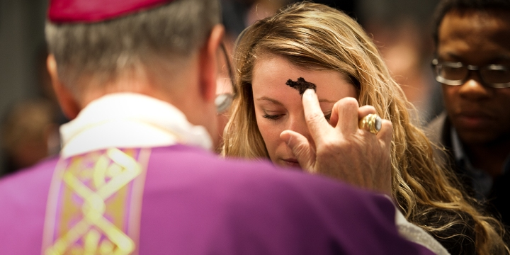 YOUNG WOMAN,ASH WEDNESDAY