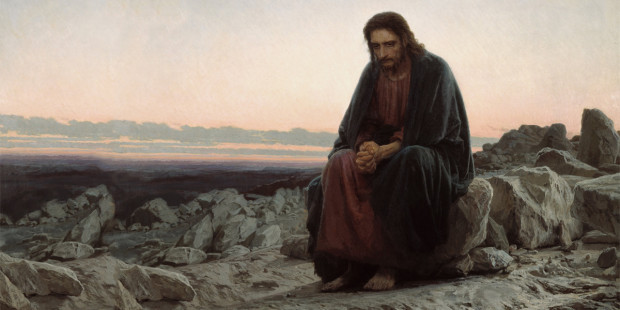 Jesus passa 40 dias no deserto