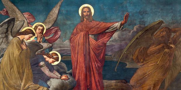 Jesus rejeita tentação do diabo no deserto