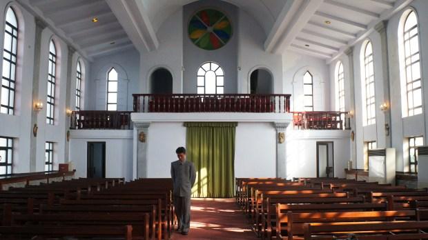 Igreja em Pyongyang, Coreia do Norte