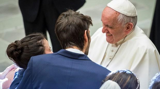 POPE FRANCIS,NEWLYWEDS