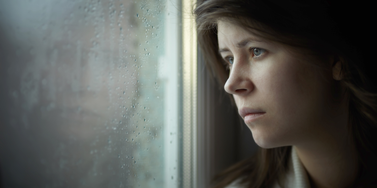 WOMAN,ALONE,DEPRESSED