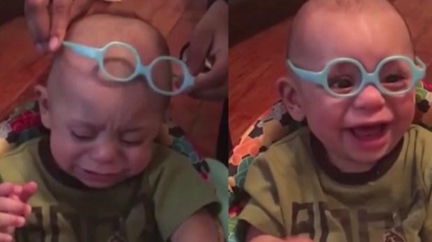 Christian bebê óculos