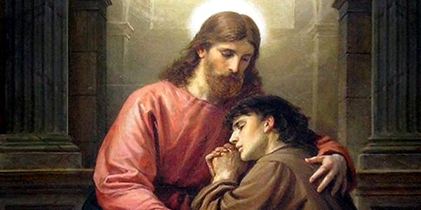 confissão Cristo abraço perdão pecador absolvido