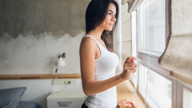 GIRL, WINDOW, OUTSIDE