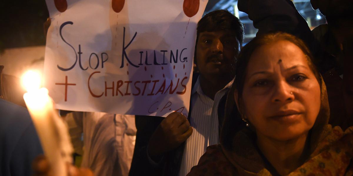 PAKISTANI CHRISTIANS PROTEST