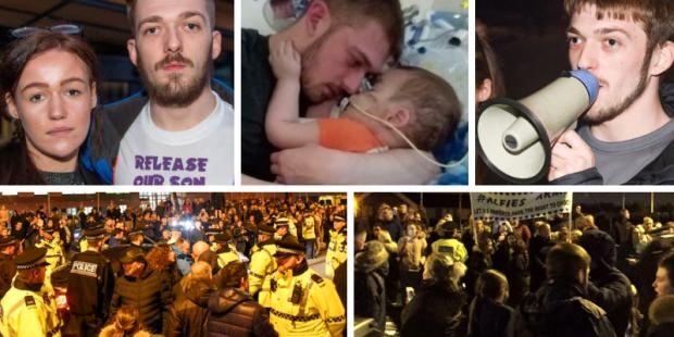 Alfie Evans protesto pais
