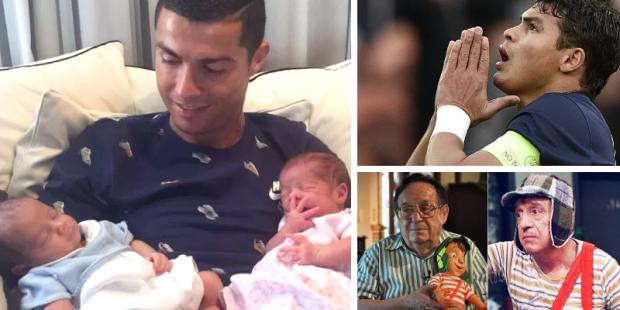 Cristiano Ronaldo Thiago Silva e Roberto Bolaños